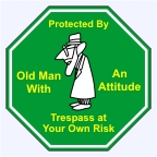 Old Man Sign